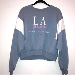 Forever 21 Light Blue Cropped Sweatshirt Size S.